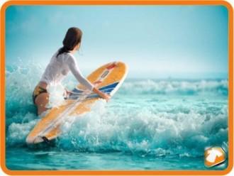 Heiße Surfer Braut