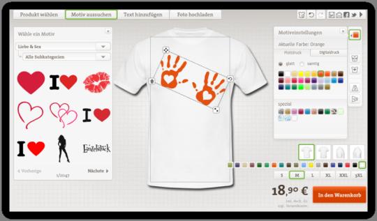 Liebe und Love T-Shirt mit Druck Gestalten
