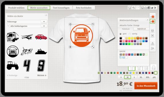 Auto T-Shirt mit Druck Selbst Gestalten
