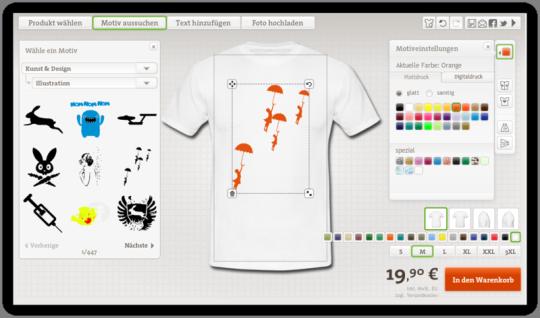 Design T-Shirt mit Druck Selbst Gestalten