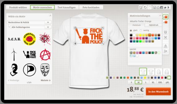 Politik T-Shirt mit Druck Selbst Gestalten