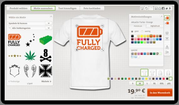 Symbol T-Shirt mit Druck Selbst Gestalten