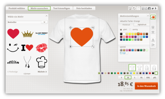 new style 32c5f 1790c I Love T-Shirt Selbst Gestalten