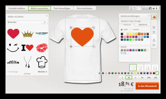 I love T-Shirt Selbst Gestalten