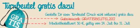 Turnbeutel Gratis Gutschein